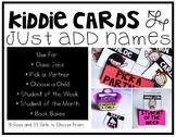 Name Cards : Editable Kiddie Cards