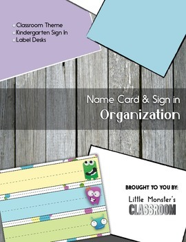 Name Cards & Sign In Sheets