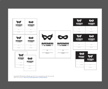Name Cards: Superhero In Training