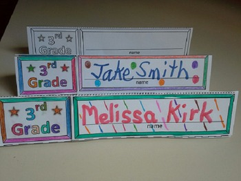 Name Cards Third Grade (Foldable and Standable)