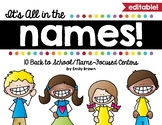 Name Center Activities - Editable!