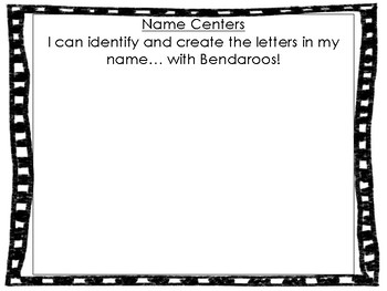 Name Centers for Kindergarten or Primary Classes