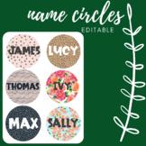 Name Label Circles