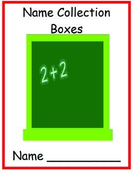 Name Collection Boxes for Kindergarten