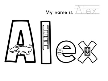 Name Coloring Pages **CUSTOMIZED***  {10 Students}