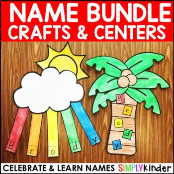 Name Crafts and Centers Bundle (GROWING BUNDLE)
