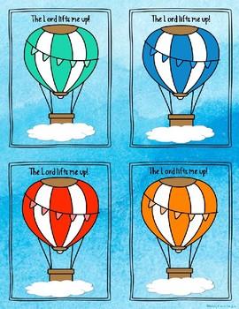 Name/Desk Tags Christian Classroom Hot Air Balloon
