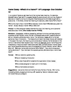 Name Essay