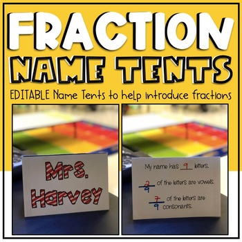 Name Fraction Tents EDITABLE