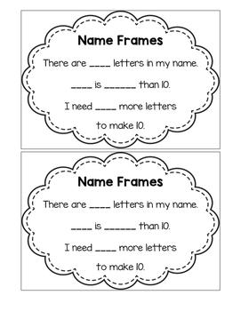 Name Frame - Making 10