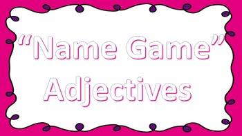 Name Game Adjectives