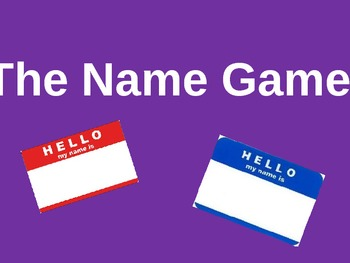 Name Game Glyph Powerpoint