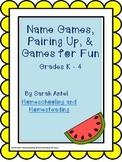 No Prep: Name Games, Pairing Up, & Games for Fun