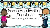 Name Handwriting Practice {Editable}