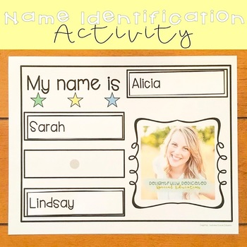 Name Identification Activity for Special Education Classrooms FOREVER FREEBIE