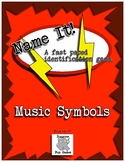 Music Centers - Name It! A Spot It inspired game. Music Symbols-Beginner