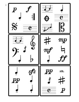 Name It! A spot it inspired game. Music Symbols Advanced