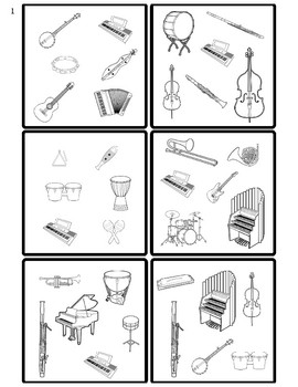 Name It! A Spot It inspired game. Instrument Identification