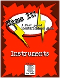 Music Centers - Name It! A Spot It inspired game. Instrument Identification