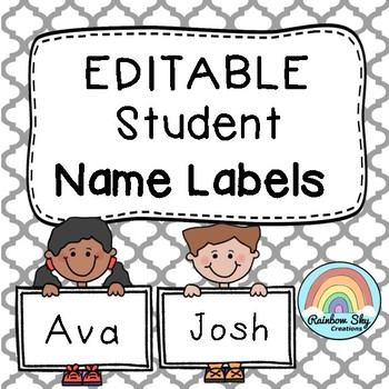 Name Labels Kids - Editable