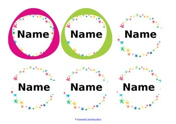 Free Editable Name Labels