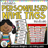 Student Name Tags {Medium Editable Name Tags}