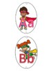 Name Tag + Alphabet - Superhero Themed Back to School Classroom Decor
