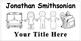 Name Labels B&W Conserve Ink-Type Names &Title-Comic Sans Font