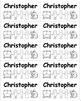 Name Labels B&W - Save Ink-Type Names-Comic Sans Font