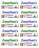 Name Labels For Poetry Folders-Type Names-Comic Sans Font