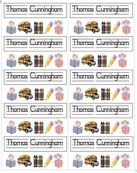 Name Labels-Multipurpose-SchoolHouse Font-Type Names