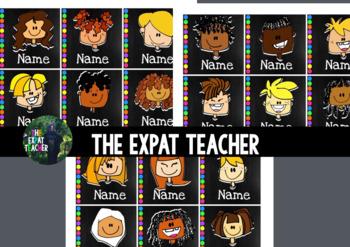 Name Plates: Kids Faces