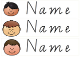 Name Labels With Kids Faces