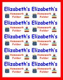 Name Labels for Homework Folders-Type Names-Comic Sans Font