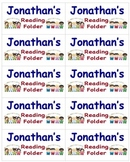 Name Labels for Reading Folders-Type Names-Comic Sans Font