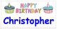 Birthday Labels - Happy Birthday!-Type in Names - Comic Sans Font