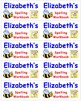 Name Labels for Spelling Workbooks-Type in Names - Comic Sans Font