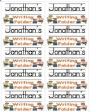 Name Labels for Writing Folders-Type Names