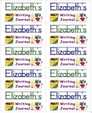 Name Labels for Writing Journals-Type Names - Schoolhouse Font