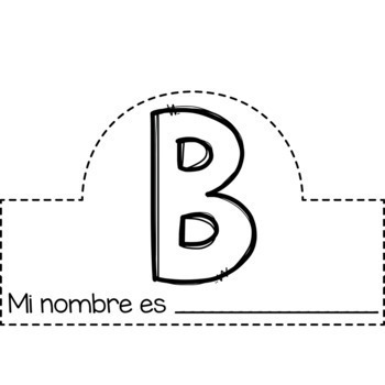 Name Letter Crown - SPANISH