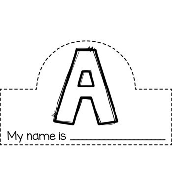 Name Letter Crowns