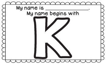 Name Mat - My Name Begins With ___.