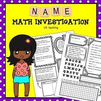 Math Project Names No Prep US