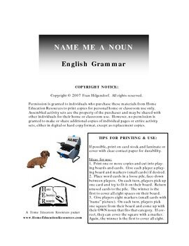 Name Me A Noun