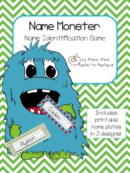 Name Monster Activity
