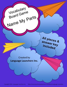 Name My Parts Vocabulary Game