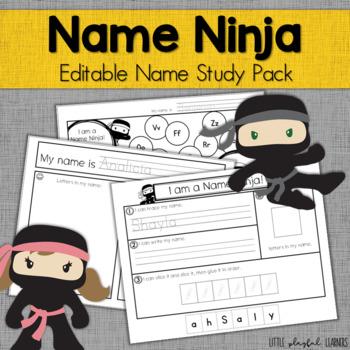 Name Ninja! {Editable} Name Study Pack
