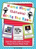 Name Ninja! {Editable} Write the Room