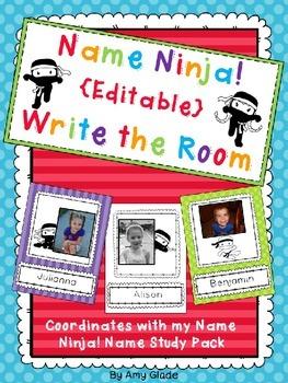 Name Ninja! {Editable} Write the Room