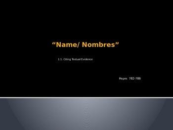 Name/Nombres